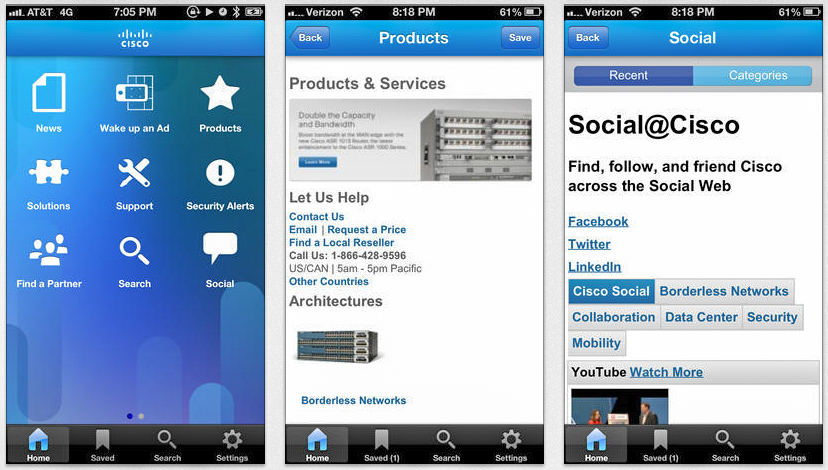 Cisco mobile app